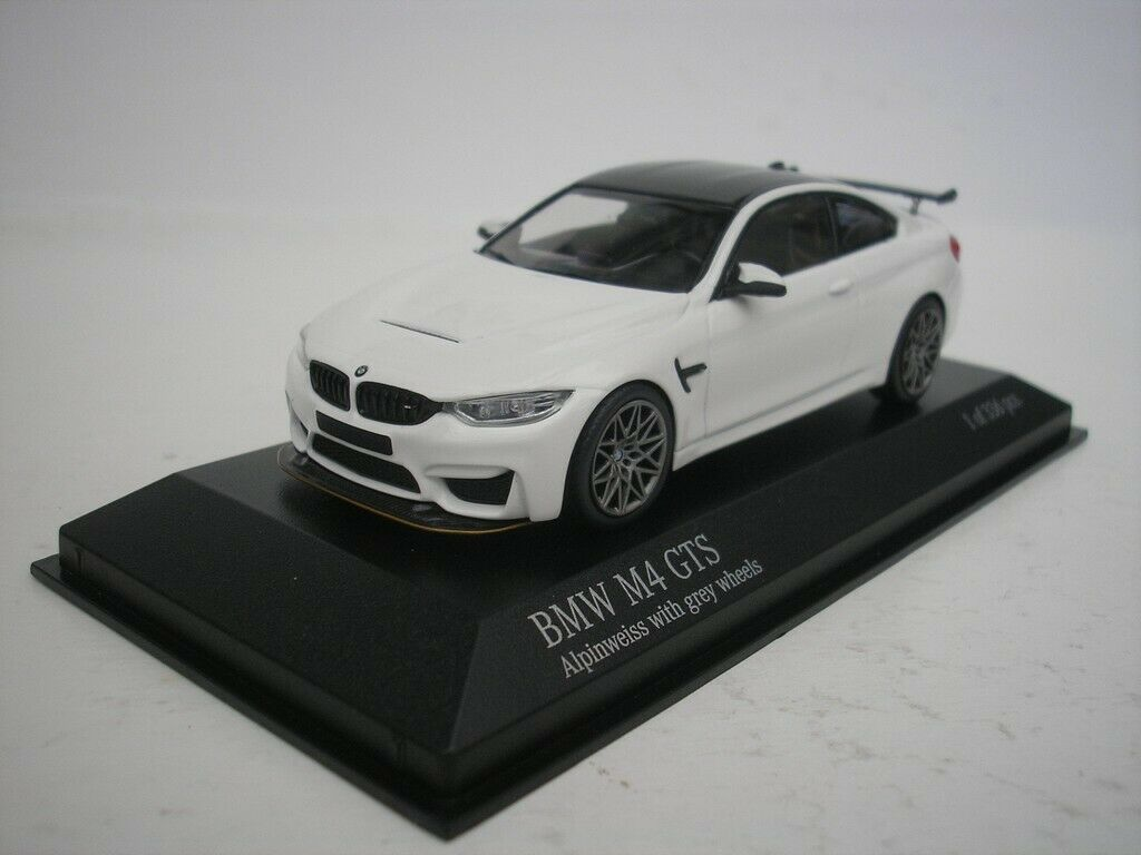 Bmw M4 Gts 2016 Alpine White Gray Rims 1 43 Minichamps 410025221 For Sale Online Ebay