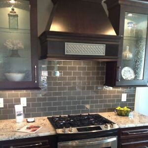 Details about Pebble Gray Glass Subway Tile For Kitchen Back Splash  Bathroom Wall 3\