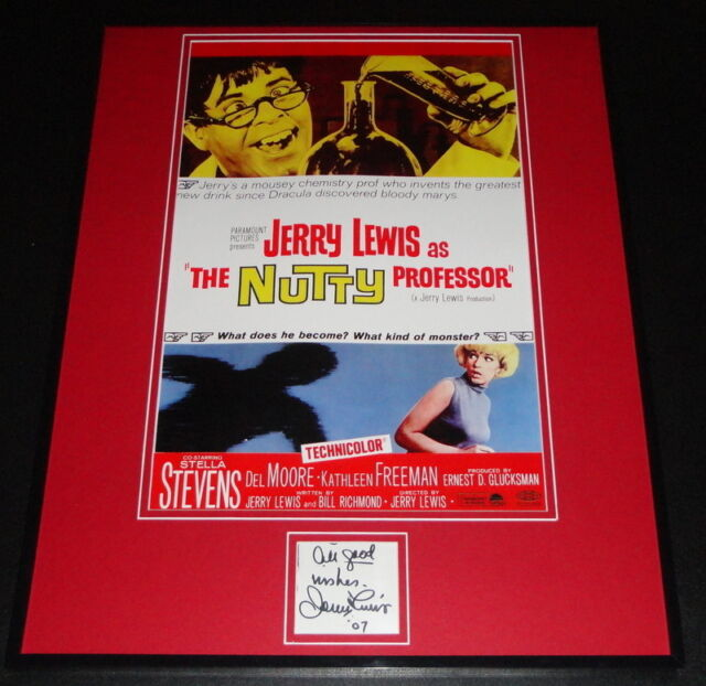 Jerry Lewis Signed Framed 16x20 Photo Poster Display JSA The Nutty Professor
