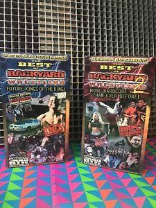 THE BEST OF BACKYARD WRESTLING 1 & 2-VHS•Insane Brutality ...