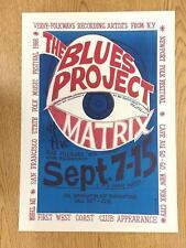 BLUES PROJECT MATRIX SAN FRANCISCO 1966 AOR CONCERT POSTER ORIGINAL