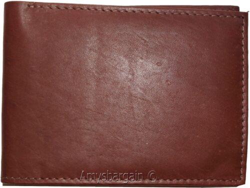 Very Thin Men/'s Bifold Wallet Billfold wallet BN Genuine Leather 6 Credit Card
