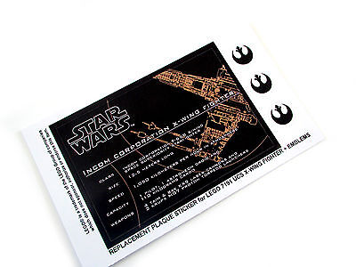 Premium quality CUSTOM sticker for LEGO 75095 TIE Fighter Star Wars