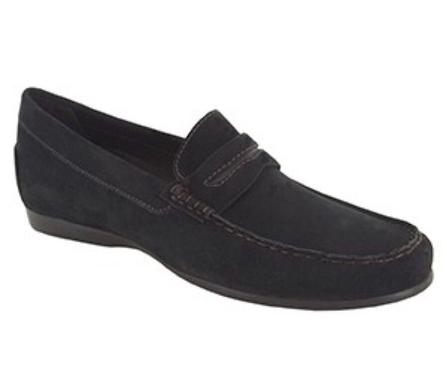 MUNRO AMERICAN M555186 RAMIE Womens Black Suede Driving Moc Loafer Shoe 8 N