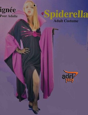 Costume SPIDERELLA Vampiro Donna Abito Halloween Taglia XL donna ragno