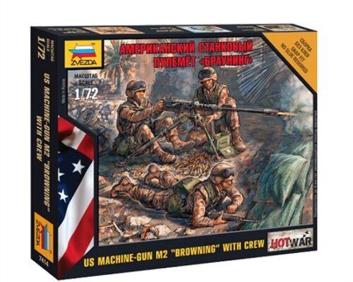 Zvezda 7414-1//72 Wargame Addon US Machine-Gun M2 Browning Mit Crew Neu