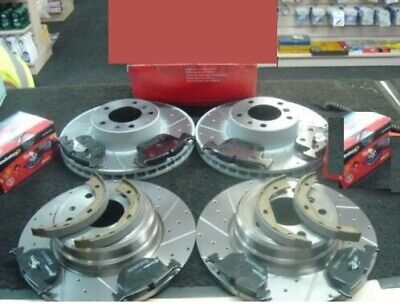 BMW 840CI E31 DRILLED GROOVED BRAKE DISCS PADS FRONT