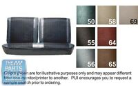 1964 Chevelle Black Front Bench Seat Covers - Pui