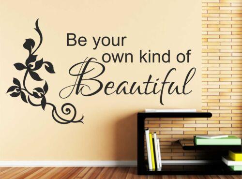 Ser su propio tipo de Hermosa Vinilo decoración pegatinas de pared arte citar calcomanía C47