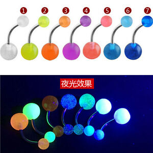 7Pcs-Glow-In-The-Dark-Belly-Button-Navel-Bar-Rings-Body-Piercing-Jewelry-BC4U