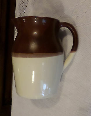 Paducah KY Kentucky Pottery Paducraft Piece 150A Jug Pitcher Brown White Glaze
