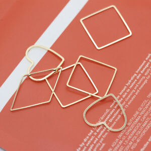 20p-Copper-Metal-plated-Geometric-Pendant-Earrings-accessories-jewelry-craft-DIY