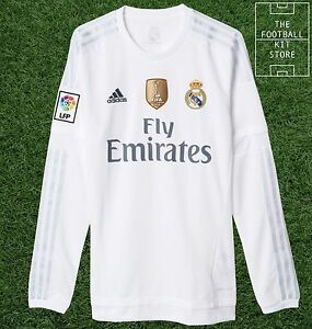REAL-MADRID-HOME-shirt-UFFICIALE-adidas-football-jersey-a-maniche-lunghe-Uomo