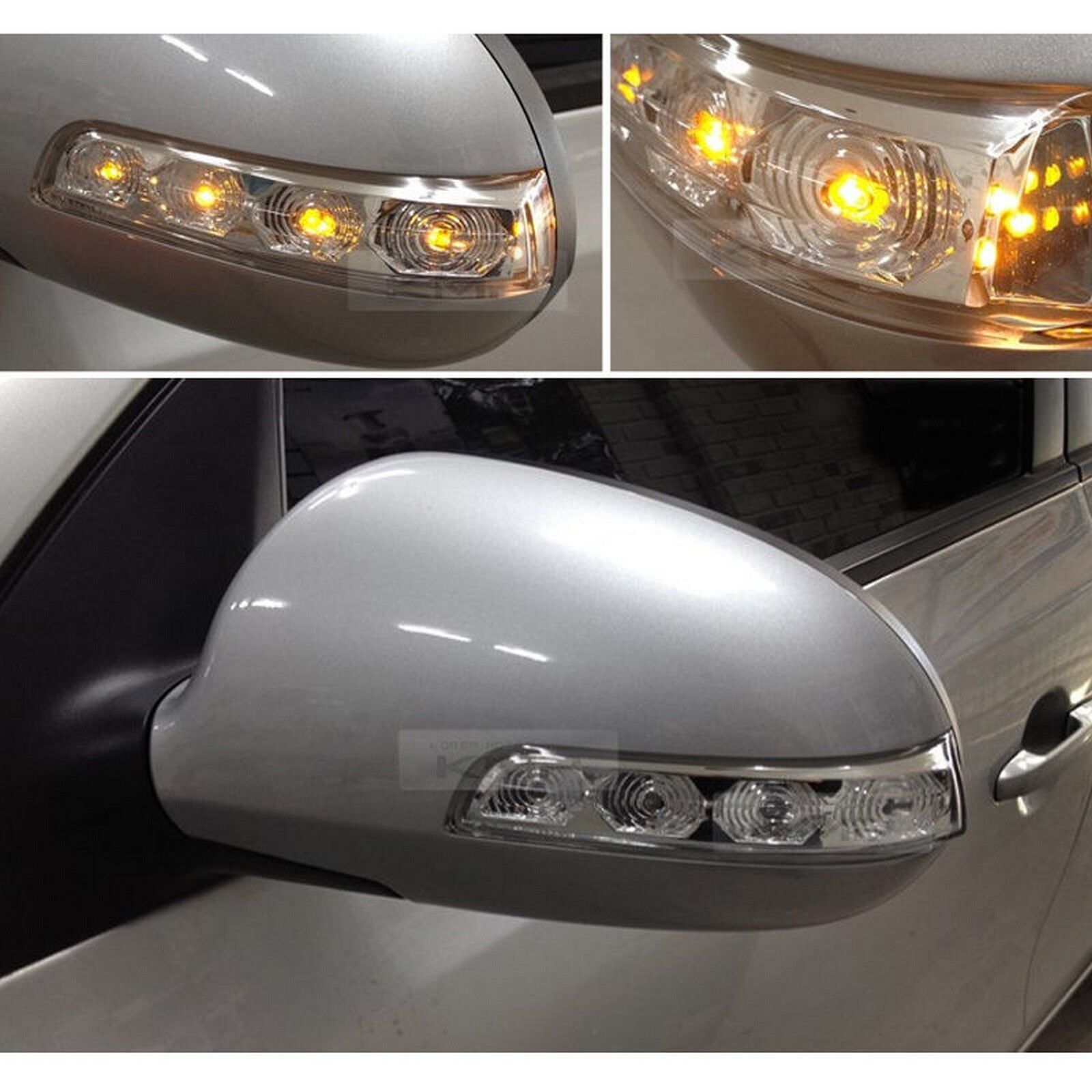 Ineedup Left and Right Exterior Mirror LED Lights Turn Signal Light Lenses Fit for 2008 2009 2010 2011 2012 2013 2014 2015 2016 F250 F350 F450 F550 Super Duty Light Bulb Smoke Lenses