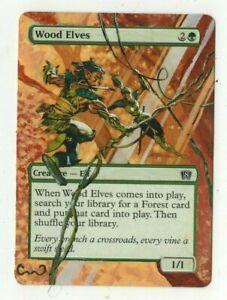 Wood-Elves-Altered-Full-Art-MTG-Magic-Commander-2020-EDH-Pimp-Birthday-Gift