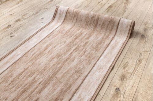 Modern Flur Läufer Teppiche /'Rama/' Beige Rutschfest Treppe Breite 67-120cm Extra