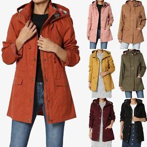 TheMogan-Drawstring-Checker-Hooded-Fully-Lined-Anorak-Military-Utility-Jacket