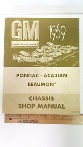 1969-PONTIAC-Models-Original-Shop-Manual-Very-Good-Condition-Canadian