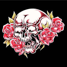 SKULL & ROSES WALL BANNER #226 skulls fantasy flags novelty skeleton flag new