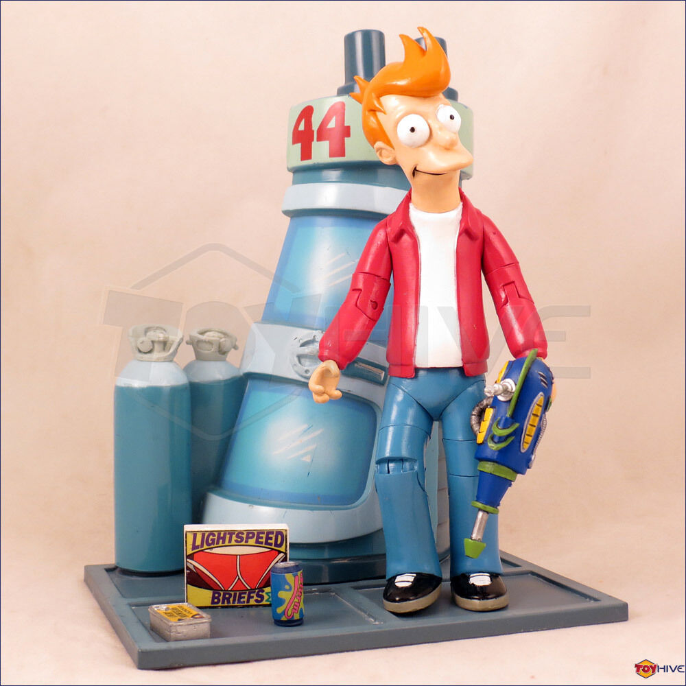 Futurama Philip J. Fry action figure & Cryo Chamber display stand by Moore Loose