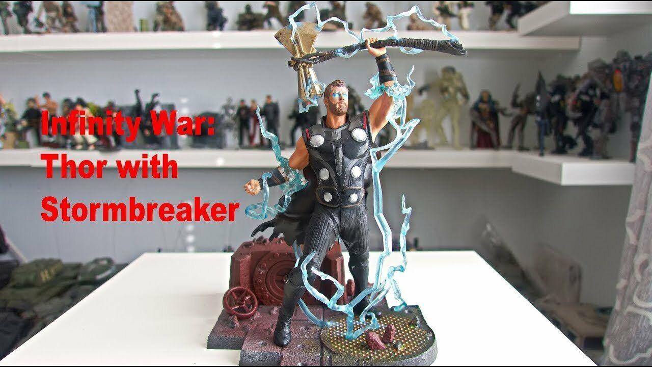 Marvel Avengers Infinity War Movie Thor stormbreaker PVC Diorama Figure 9
