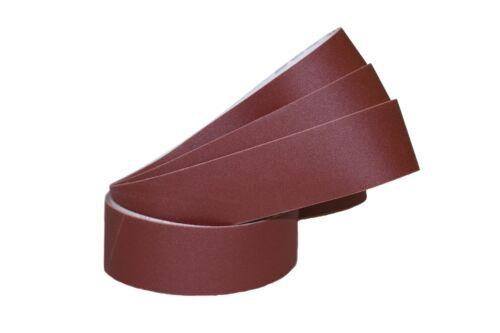 """2/""""x48/"""" Sanding Belts 320 Grit Premium Red /""""J/"""" Flex 5pcs"""