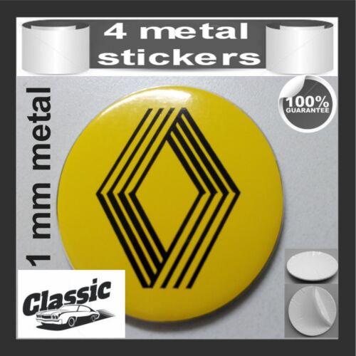 METAL STICKERS WHEELS CENTER CAPS Centro LLantas 4pcs Classic RENAULT 13