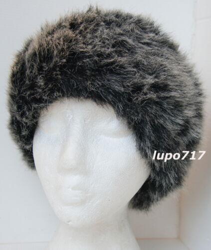 LADIES MIX COLOR FLUFFY FAUX FUR HEADBAND HAT SKI EAR WARMER MUFFS NEW ONE SIZE