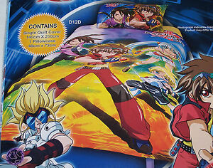 Bakugan-Stance-Boys-Single-Bed-Printed-Quilt-Cover-Set-New