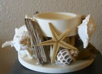 Kennedy's Seashell Treasures Pillar Candle Holder -