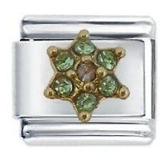 AUGUST FLOWER BIRTHSTONE - Daisy by JSC Fits Classic Size Italian Charm Bracelet