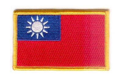Parche bandera PATCH TAIWAN REPUBLICA DE CHINA 7x4,5cm bordado termoadhesivo