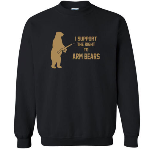 054 Right to Arm Bears Crew Sweatshirt animal lover gun rights funny activist