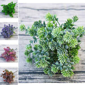 Diy Crafts Artificial Plants Fake Flower Fall Leaves Flores Plastic Succulent Ebay