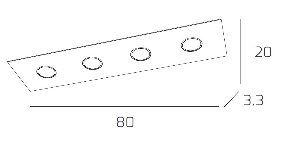 Plafoniera vetro da soffitto LED moderna in vetro Plafoniera vari colori 4 luci rettangolare c42d88