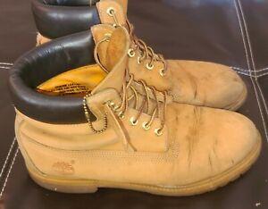 Timberland-6-Inch-Premium-Waterproof-Boots-10061-Wheat-US-Men-039-s-Size-9M-W84