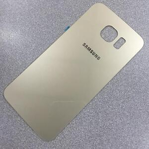 new product 29a09 f9327 Details about New Rare Battery Back Cover Glass Panel For Samsung Galaxy S6  Edge - Gold