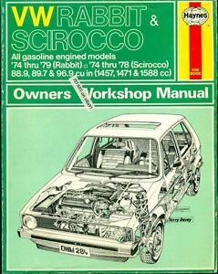 1974 1975 1976 1977 1978 1979 vw rabbit golf scirocco repair manual rh ebay com 2007 vw rabbit owners manual 2008 vw rabbit owners manual pdf