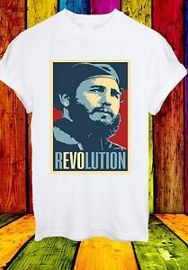 Fidel-Castro-RUZ-RIVOLUZIONE-CUBANA-Raul-leader-ribelle-Uomini-Donne-Unisex-T-shirt-727