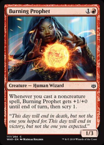 4x Burning Prophet x4 NM//M MTG Magic - War of the Spark C