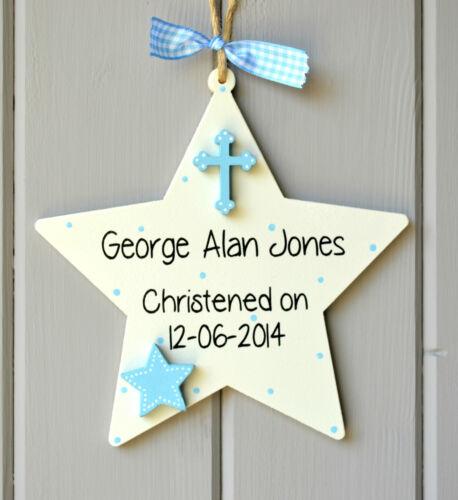 Christening details plaque Personalised newborn christening gift and Keepsake