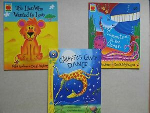 GILES-ANDREAE-Lot-of-3-PB-Books-Lion-Ocean-Commotion-Giraffes