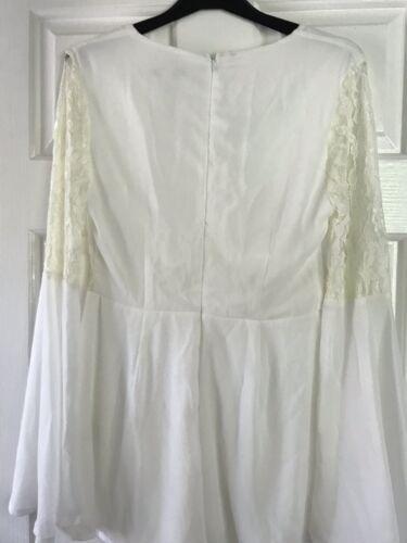 Nwt Ivory Cream Size Playsiut Ladies Lace 10 Chiffon 1Zwaq1xr