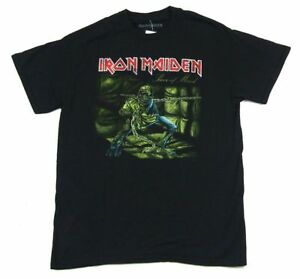 6043ab52b1b Iron Maiden Piece Of Mind Black T Shirt New Official Album Cover Art ...