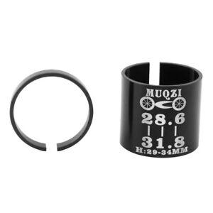 2pcs Bicycle Stem Shim 31.8 to 28.6mm  Fork Steerer Tube Adaptor Reducer