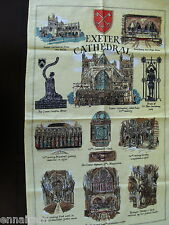 Exeter Cathedral UK Tea Towel  made in England