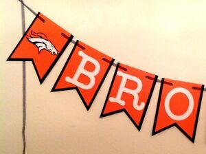 Details about Nfl Denver Broncos Banner Happy Birthday Anniversary Custom  Name Handmade New