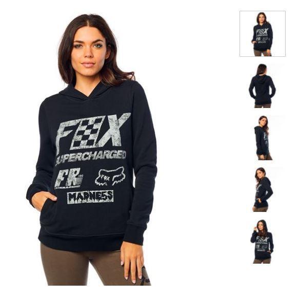 NEW Fox Racing Women's hoodie SUPERCHARGED PO HDY 21811-001-L 21811-001-L 21811-001-L f76df5