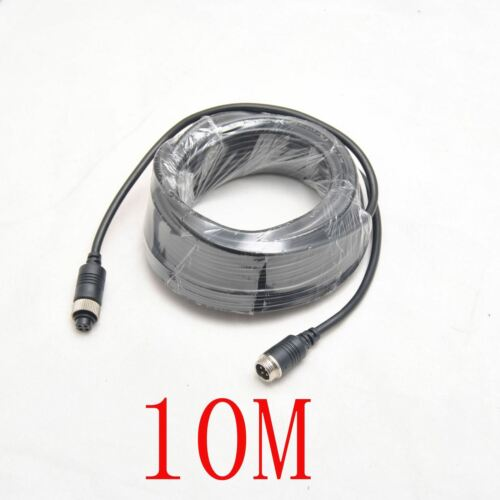 10M 10 Meter Video+Power Cable 4-Pin 4 pin Connectors For Car Camera//Monitor Use