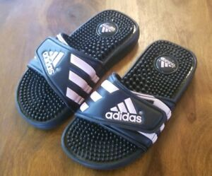 1734cea9033c Adidas ADISSAGE Slides Sandals Pink   Black Soccer Sports Flip Flops ...